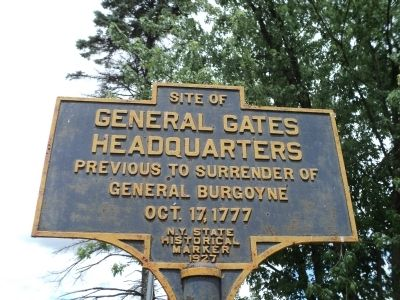 General Gates Headquarters Marker image. Click for full size.