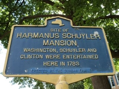Harmanus Schuyler Mansion Marker image. Click for full size.