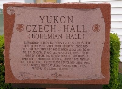 Yukon Czech Hall Marker image. Click for full size.