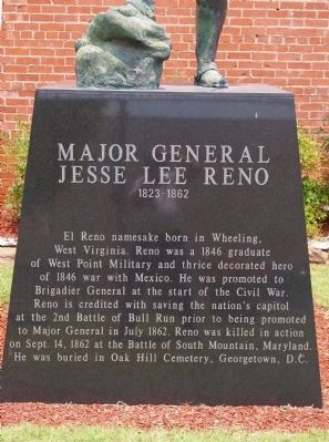 Plinth - Major General Jesse Lee Reno Statue image. Click for full size.