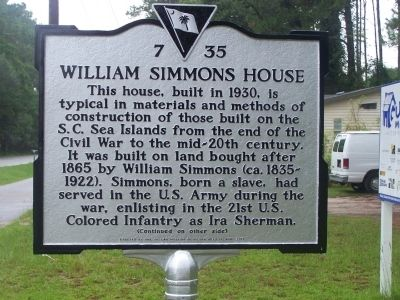 William Simmons House Marker image. Click for full size.