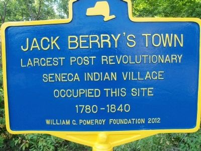 Jack Berry's Town Marker image. Click for full size.