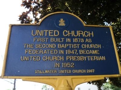 United Church Marker image. Click for full size.