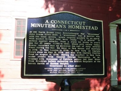 A Connecticut Minuteman's Homestead Marker image. Click for full size.
