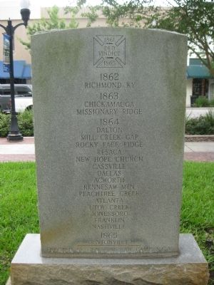 Co E 7th Florida Inf Regt South Florida Bulldogs Marker image. Click for full size.
