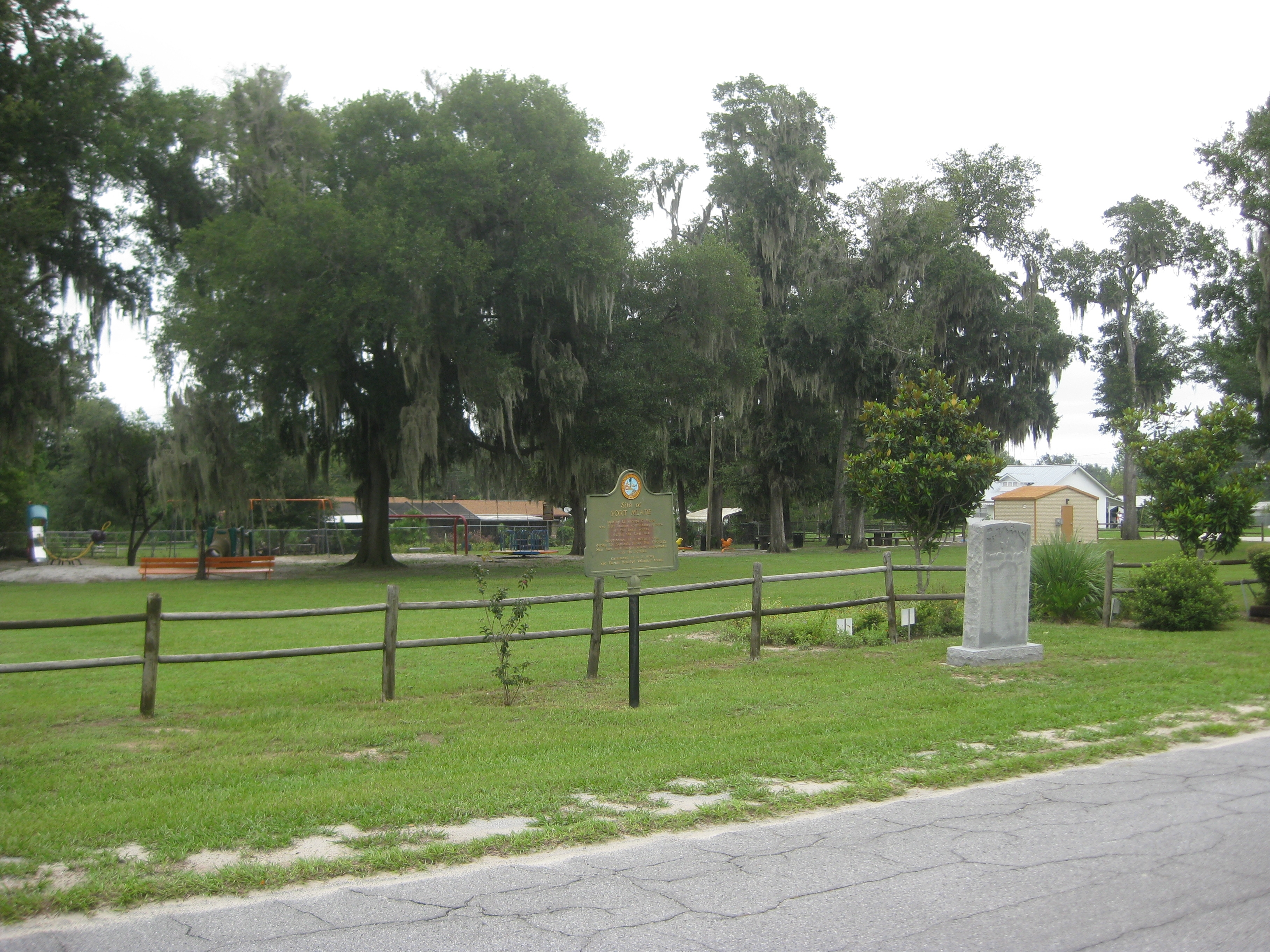 Site of Fort Meade Marker