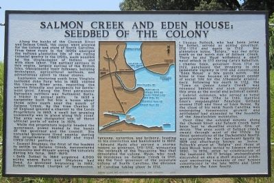 Salmon Creek and Eden House: Seedbed of the Colony Marker image. Click for full size.