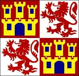 Flag of Castile and León image. Click for full size.