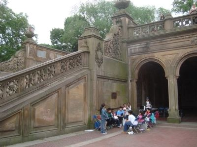Bethesda Fountain and Terrace Marker image. Click for full size.