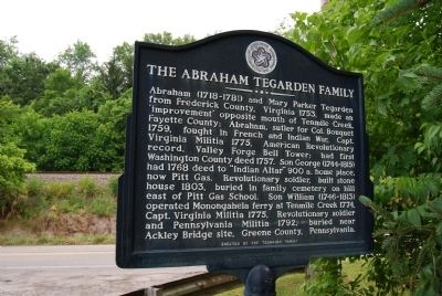 The Abraham Tegarden Family Marker image. Click for full size.