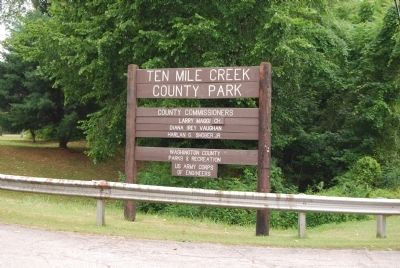 Ten Mile Creek County Park Sign image. Click for full size.