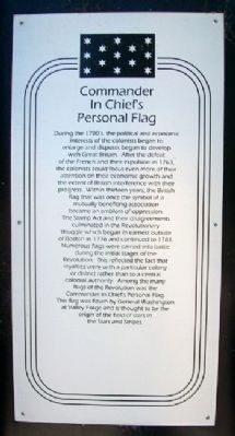 Commander In Chief's Personal Flag Marker image. Click for full size.