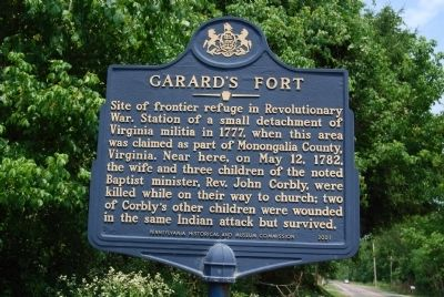 Garard's Fort Marker image. Click for full size.