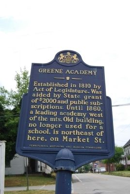Greene Academy Marker image. Click for full size.