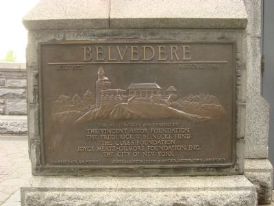 Belvedere Plaque image. Click for full size.