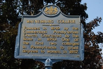 Waynesburg College Marker image. Click for full size.