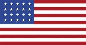 20-Star U.S. Flag (1818) image. Click for full size.