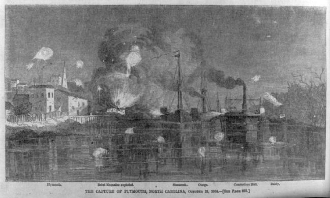 The capture of Plymouth, North Carolina, October 31, 1864 1864. image. Click for full size.