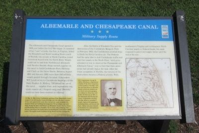 Albemarle and Chesapeake Canal CWT Marker image. Click for full size.