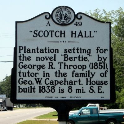 """Scotch Hall"" Marker image. Click for full size."