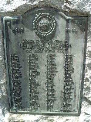 Stillwater World War I Memorial Marker image. Click for full size.