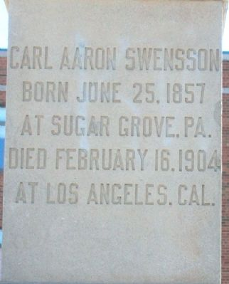 Carl Aaron Swensson Monument image. Click for full size.