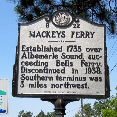 Mackeys Ferry Marker image. Click for full size.