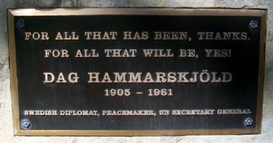 Dag Hammarskjöld Monument image. Click for full size.