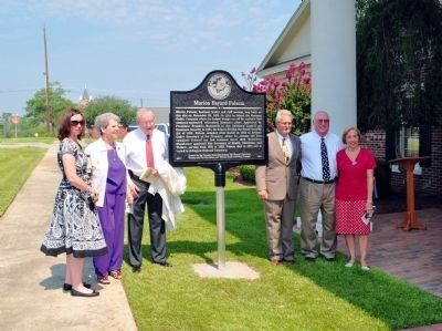 Marion Bayard Folsom Marker Dedication image. Click for full size.
