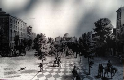 Pennsylvania Avenue, circa 1853 image. Click for full size.