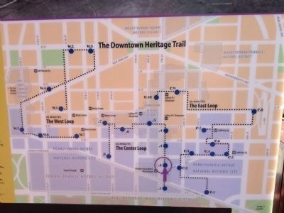 Map of the Downtown Heritage Trail System image. Click for full size.