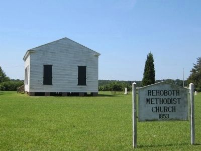 Rehoboth Methodist Church 1853 image. Click for full size.