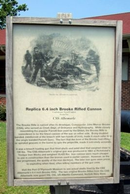 Replica 6.4 inch Brooke Rifled Cannon Marker image. Click for full size.