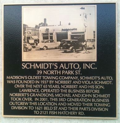 Schmidt's Auto, Inc. Marker image. Click for full size.