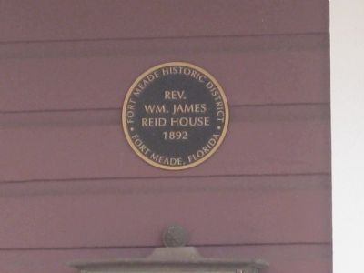 Reid House Plaque image. Click for full size.