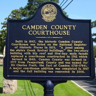 Camden County Courthouse Marker image. Click for full size.