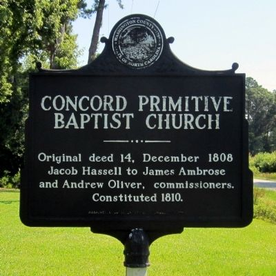 Concord Primitive Baptist Church Marker image. Click for full size.