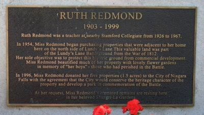 Ruth Redmond Marker image. Click for full size.
