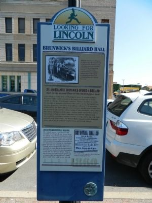 Brunwick's Billiard Hall Marker image. Click for full size.