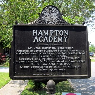 Hampton Academy Marker image. Click for full size.