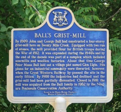 Ball's Grist-Mill Marker image. Click for full size.