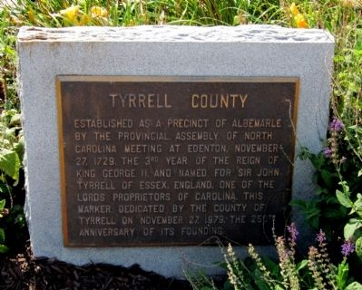 Tyrell County Marker image. Click for full size.