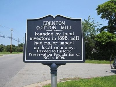 Edenton Cotton Mill Marker image. Click for full size.
