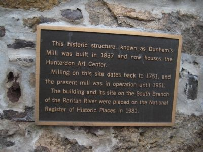 Dunham's Mill Marker image. Click for full size.