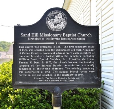 Sand Hill Missionary Baptist Church Marker image. Click for full size.