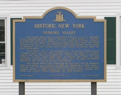 Genesee Valley Marker image. Click for full size.
