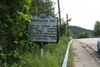 Swannanoa Gap Marker, northbound look image. Click for full size.