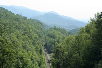 Swannanoa Gap with todays railroad line image. Click for full size.