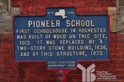 Pioneer School Marker image. Click for full size.