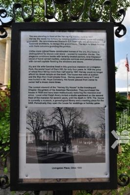 Ely House Informational Placard image. Click for full size.